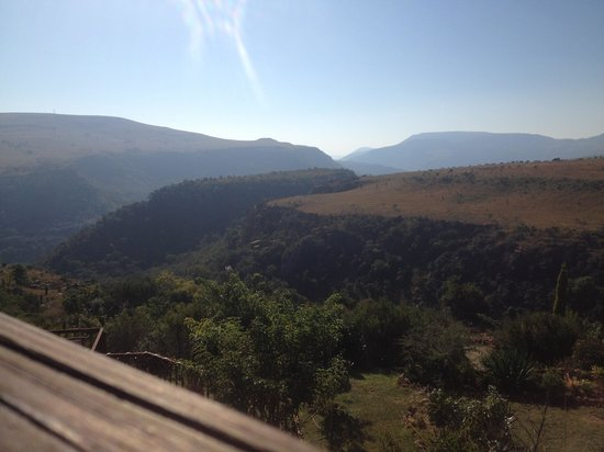 Waterval Boven, Sydafrika: View from right of deck