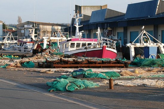 Port-en-Bessin-Huppain, France : Fishing port