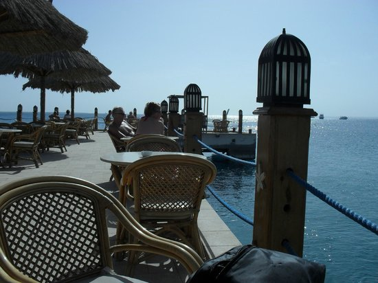 Siva Grand Beach Hotel: the hotels pier - great place for a drink!