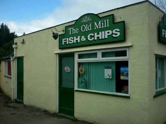 Conwy County, UK: The Old Mill Fish & Chip Shop, Gyffin