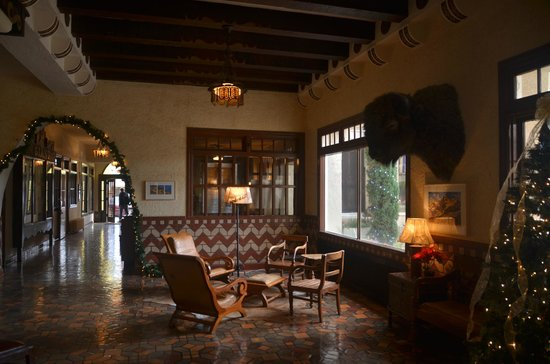 The Hotel Paisano: lobby area