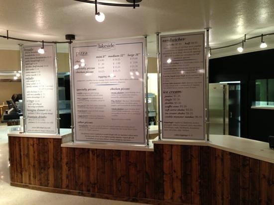 Garden City, UT: Menus front and center...