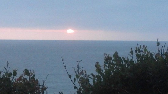 Montage Laguna Beach: A subdued sunset, but usually they are spectacular.