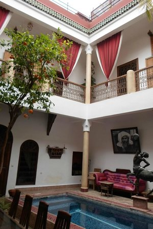 Riad El Zohar: View from the ground floor
