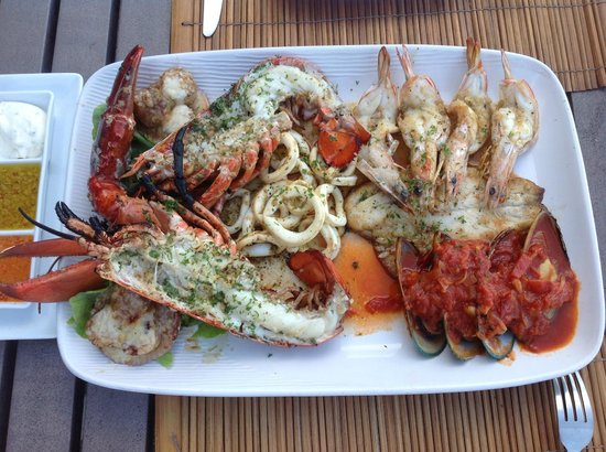 Maret, Thailand: Seafood Platter
