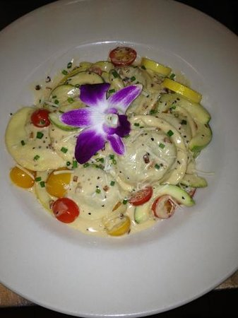 Woodstock, VT: lobster ravioli