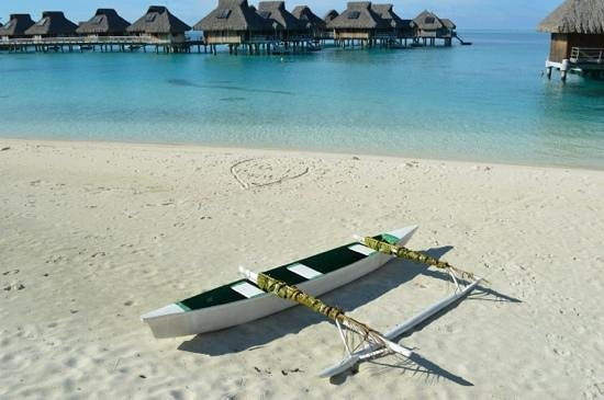 Hilton Bora Bora Nui Resort &amp; Spa: plage du hilton