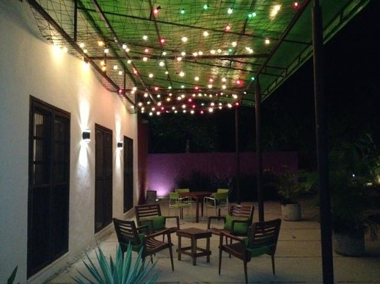 Yucatan, : Patio outside the dining room and by the pool