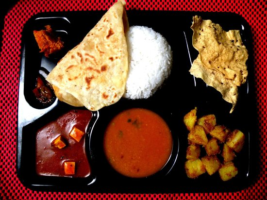 Regular thali combo meal picture of ashoka indian for Asoka indian cuisine