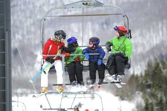 Bolton Valley, VT: Family on Chairlift