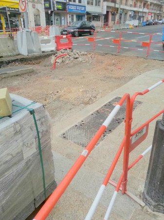 Suite Novotel Cannes Centre: Road works boulevard Carnot