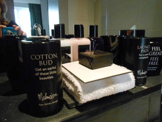 Malmaison Newcastle: nice toiletries to take away