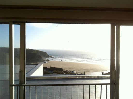 Bedruthan Hotel & Spa: view through the sliding 'patio'doors