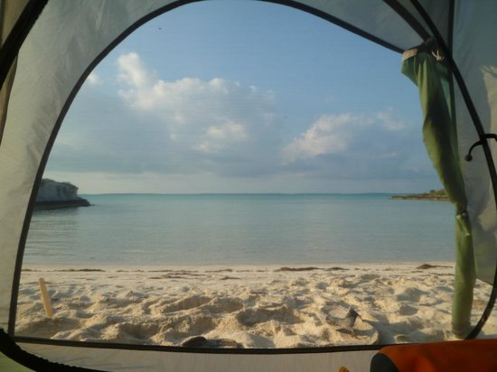 George Town, Great Exuma: View from our tent