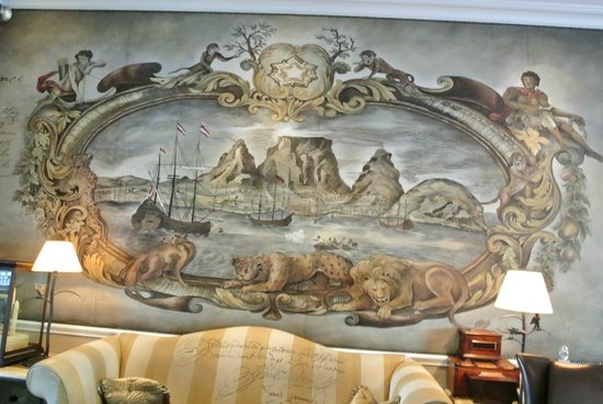 Cape Grace: One of the many hand pained murals