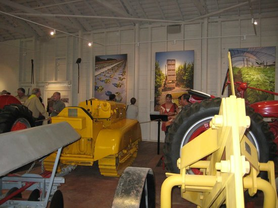 Santa Paula, CA: We have lots of vintage tractors and art about agriculture.