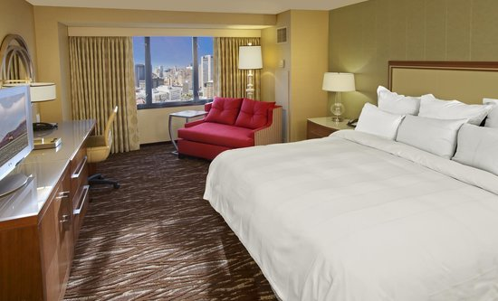 First photo of the all new guest rooms at the San Francisco Marriott Marquis