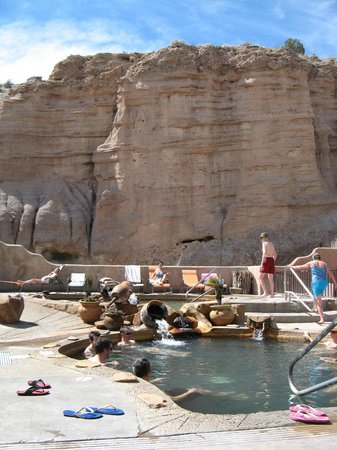 Ojo Caliente, NM: Soaking pools