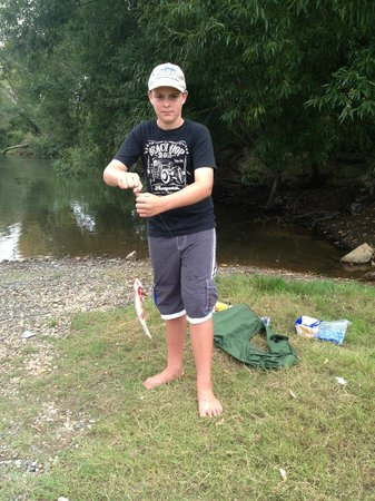catch a trout at Te Aroha Landing - rods and licences available