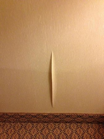 Hilton Garden Inn Albuquerque Airport: wallpaper issue mentioned.  just cosmetic.