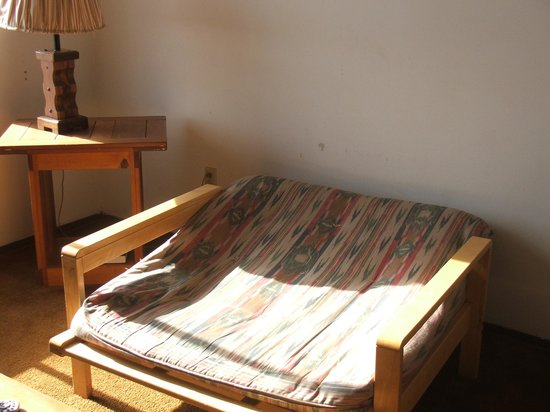 Marble Canyon Lodge: the futon in the livingroom