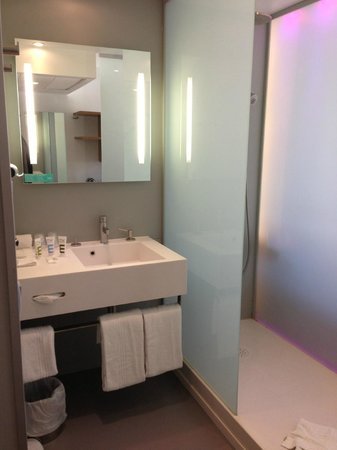 Mercure Paris Arc de Triomphe Etoile: open shower/sink area