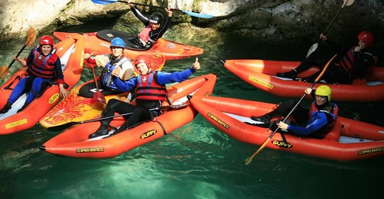 Bovec, Slovenien: Easy kayak trip for everyone!