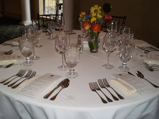 Suttons Bay, : Special event table setting