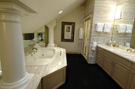 Suttons Bay, MI: Spa tub and bathroom