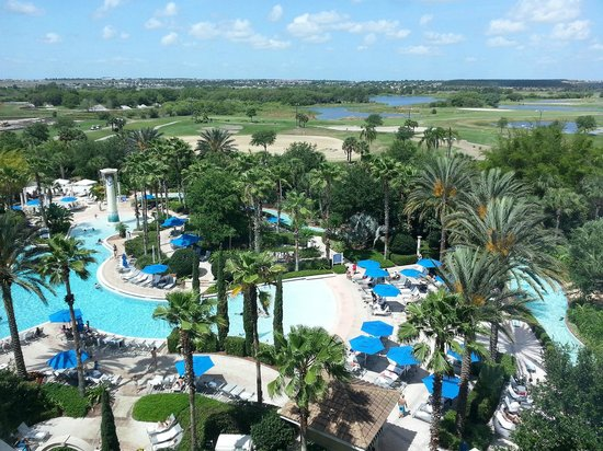 ‪‪Omni Orlando Resort at ChampionsGate‬: The view of the Zero Pool from our room‬