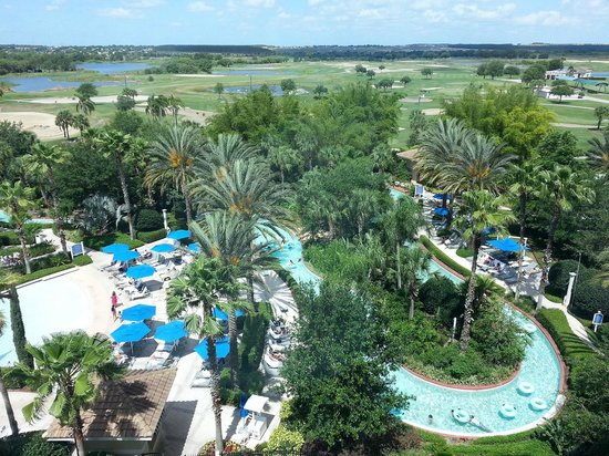 ‪‪Omni Orlando Resort at ChampionsGate‬: The view of the Lazy River from our room‬