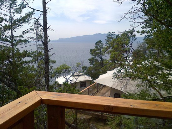 Rockwater Secret Cove Resort: view from the deck