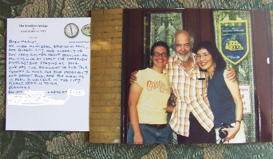 Bob &amp; Mariko&#39;s Bed &amp; Breakfast: A very nice thank-you card and photo from Brian and Megan
