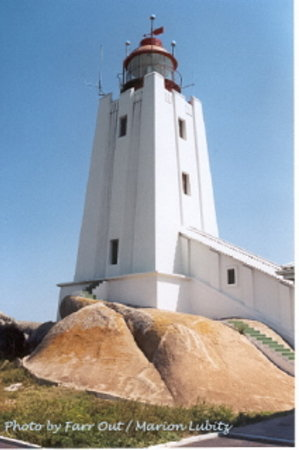 Paternoster, Gney Afrika: Cape Columbine Lighthouse close by