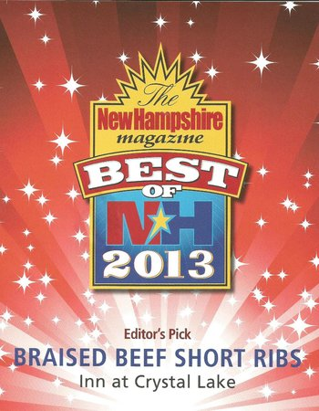 Eaton, NH: Come try our short ribs - a Best of NH 2013 winner!