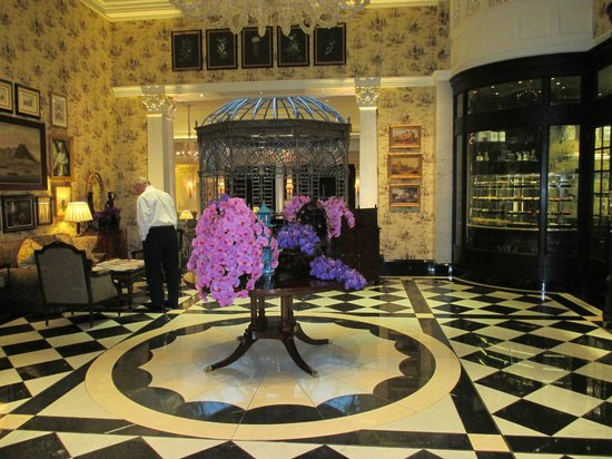 The Savoy: Lower Lobby with Chocolate Shop to the right