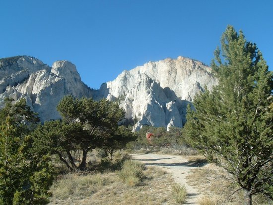 Nathrop, CO: The chalk Cliffs of Mt. Princeton