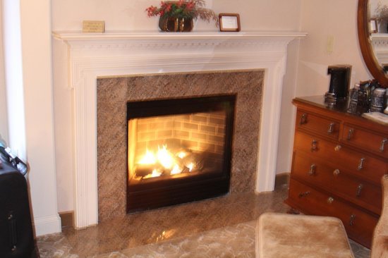 Meadowmere Resort: fireplace