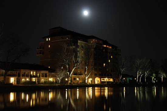 The Broadmoor: South building at night