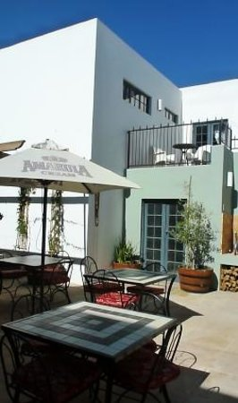 Tulbagh Hotel: The Outside Terrace...