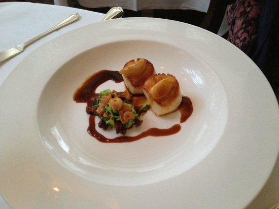 Cuckfield, UK: scallops - amazing!