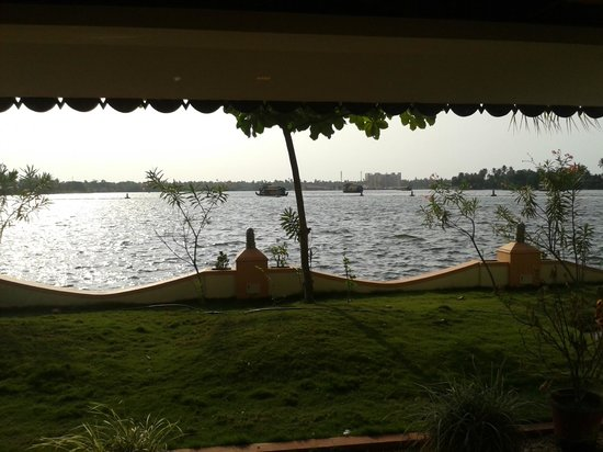 Lake Palace: Looking over the lake