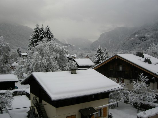 Samoens, France: View from second floor, north towards the village