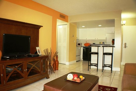 Mia Airport Villas: Typical Upgraded Apartment Interior Living - Dining - Kitchen