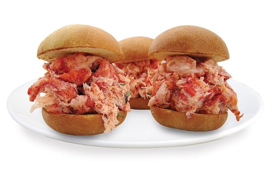 Stonington, CT : Lobster salad slider on a brioche roll 