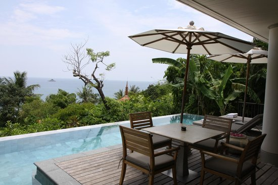 Trisara Phuket: Patio balcony with personal pool