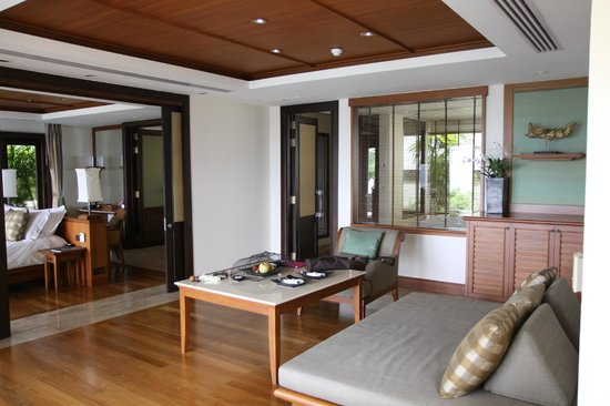 Trisara Phuket: Living room- view from patio