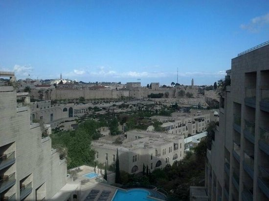 The David Citadel Hotel: View from hotel room on the old city