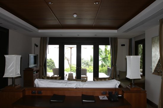 Trisara Phuket: Bedroom and patio- view from other bathroom