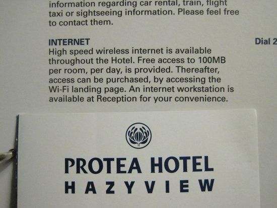 Protea Hotel Hazyview: Get your WiFi Here...Or Not!